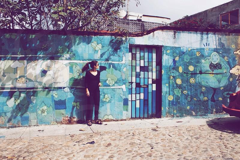 Street art pattern mural art design Mexico tourist photo