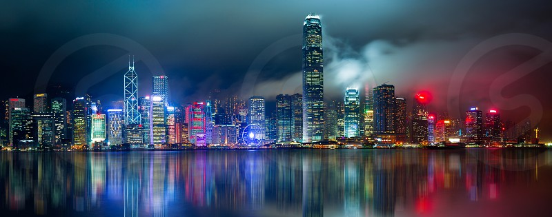 Skyline cityscapes skylines landscape long exposure travel Hong Kong photo