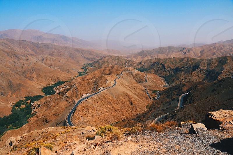 Marocco Africa Tizi n' Tichka muontains road photo