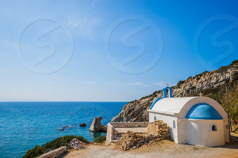 Greek Orthodox Church on Naxos Island Greece. photo