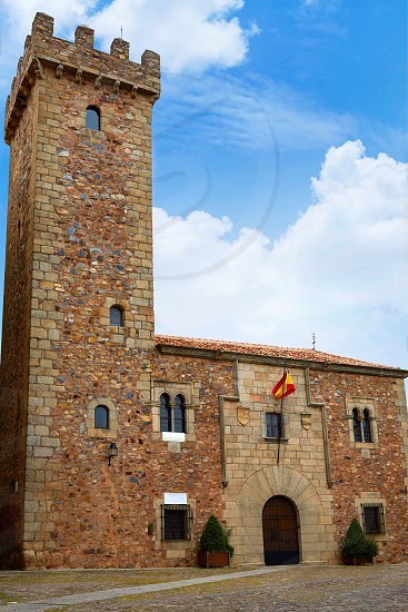 Caceres Ciguenas house tower in Extremadura of spain photo