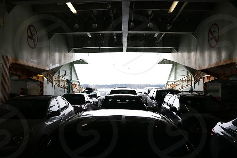 ferry washington pnw pacific northwest cars boat photo