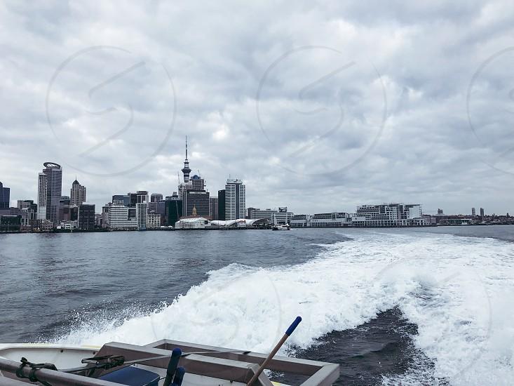 Auckland Devonport Ferry harbour Skycity Tower photo
