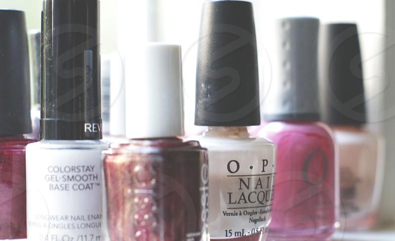 white nail polish bottle photo