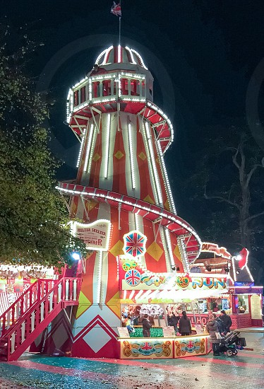 Slide at winter wonderland London  photo