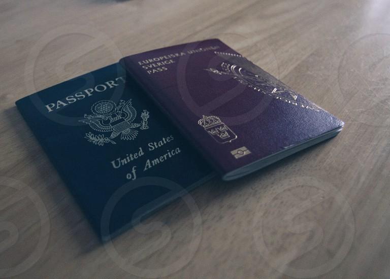 Swedish and American passport photo