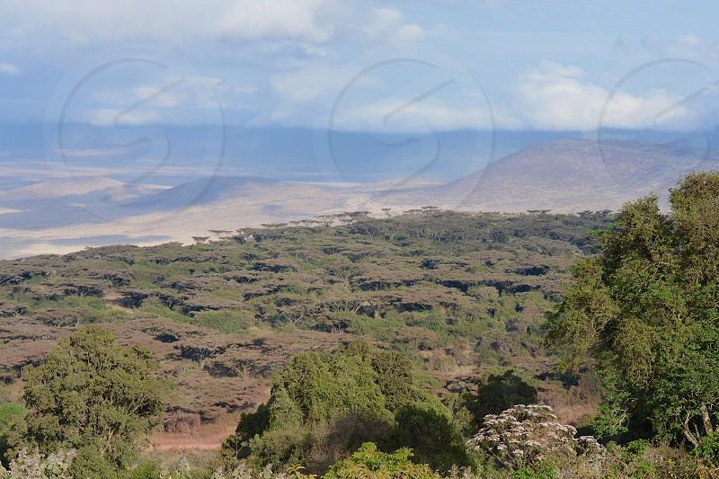 Ngorongoro Crater Tanzania Africa Landscape Scenic Nature Outdoors Volcanic Travel Safari Destination photo