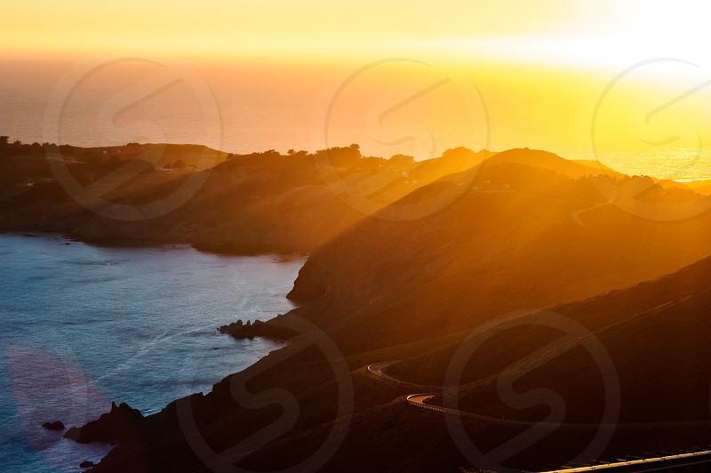 rock formation and sunset view phography  photo