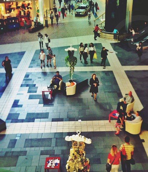people at the mall photo