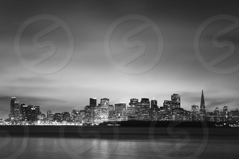 San Francisco SF Nightshot Bay Area Long Exposure Ship Cityscape SF photo