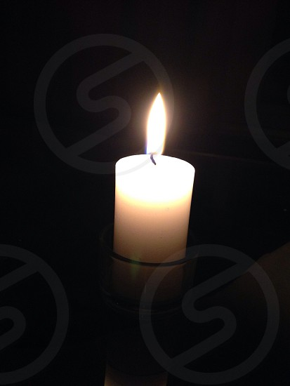 A light to remember. Candle. photo
