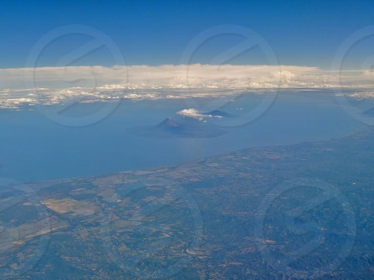 Aerial view of Ometepe - Rivas Department Nicaragua photo