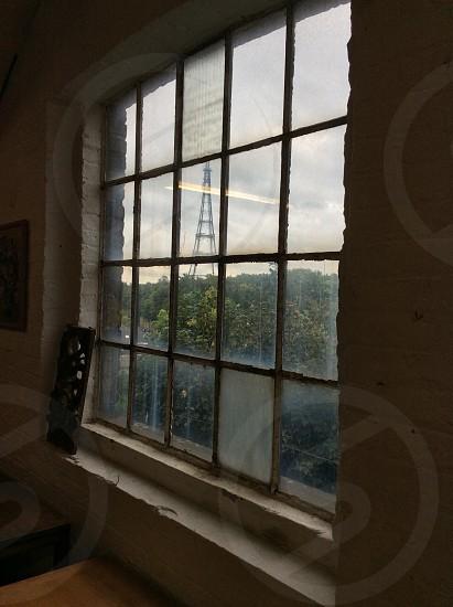 Crystal Palace tower unusual view. London. Window. photo