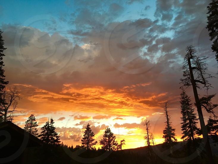 Sunset in Yosemite National Park photo