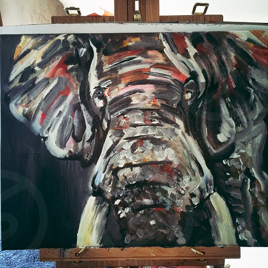 Original painting of my own. Elephant.  photo