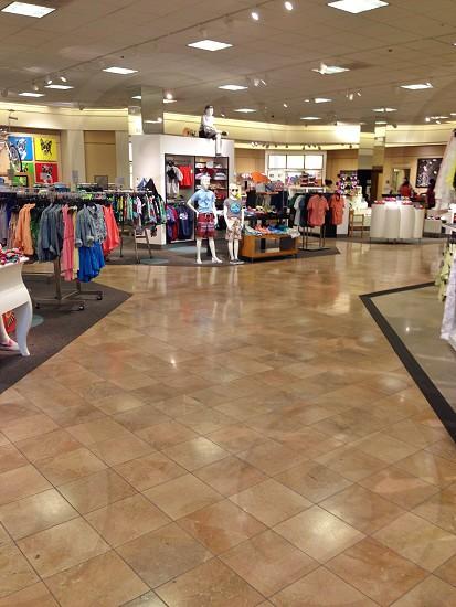 inside a cloth store photo