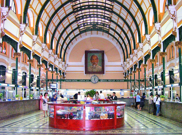 HO CHI MINH CITY - CENTRAL POST OFFICE (interior) photo