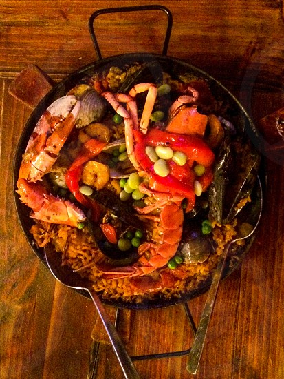 paella seafood rice Spanish photo