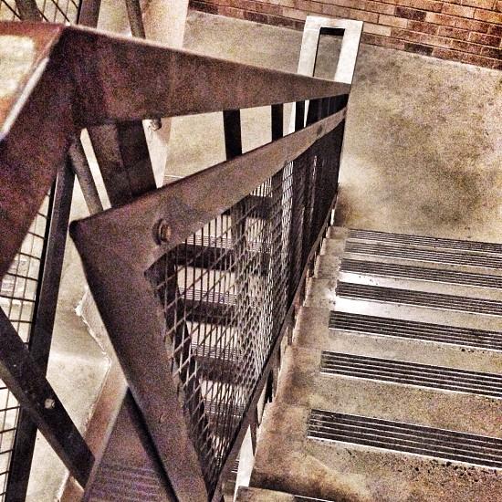 Stairwell at the University of Washington photo
