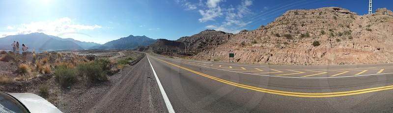 panoramic road photo