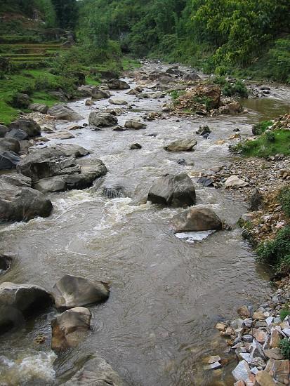 small stream in Vietnam photo