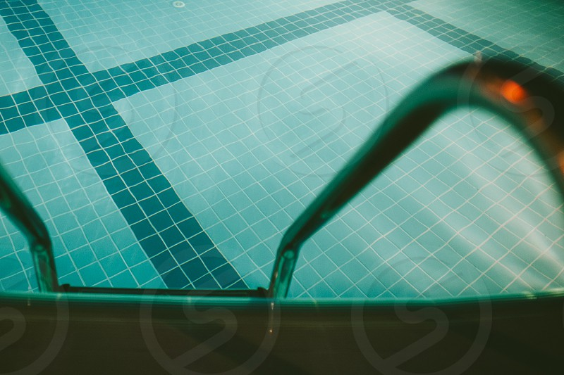 Swimming pool by night. photo