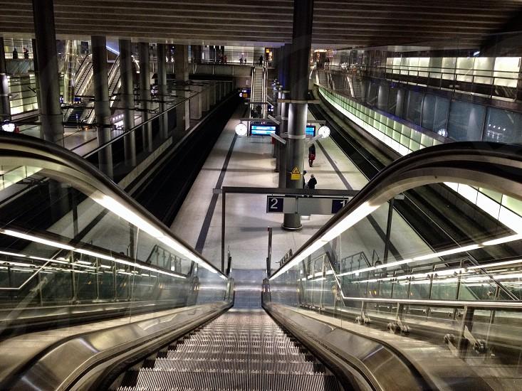 silver escalator  photo