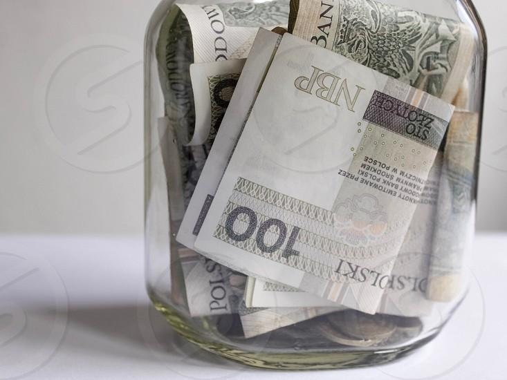 Finance money savings cash banking money bills jar money jar photo