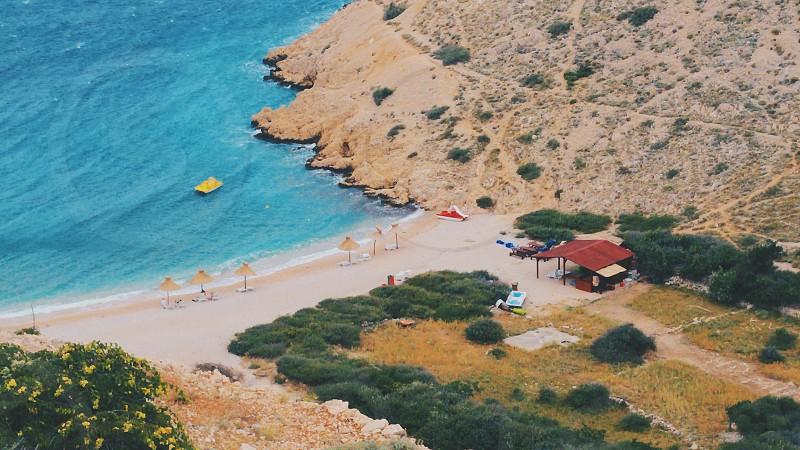 Landscape of a hidden Croatian beach. photo