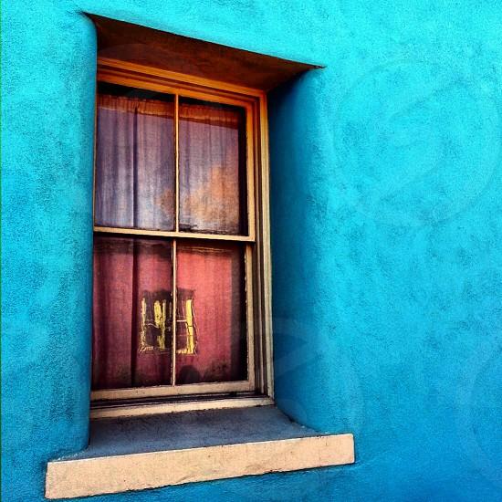 Adobe window reflection Barrio Viejo Tucson AZ photo