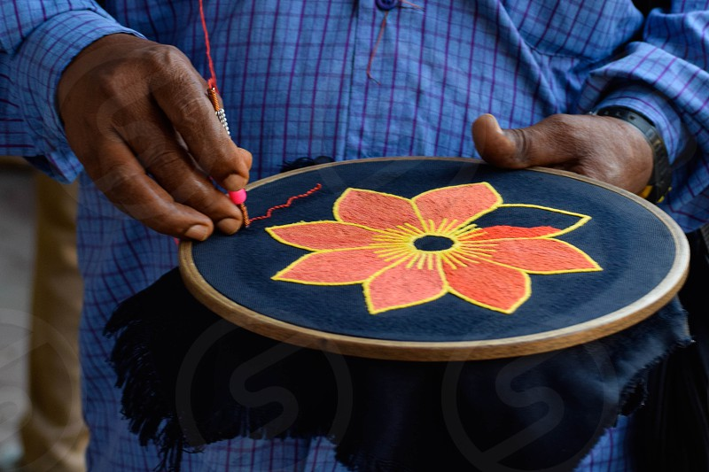 craft needlework hand flower photo