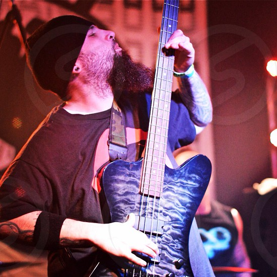 Playing some serious bass.  photo