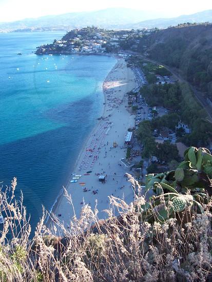 aerial view of beachfront photo