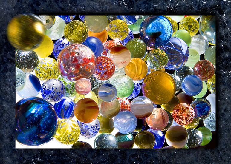 multicolored marbles photo