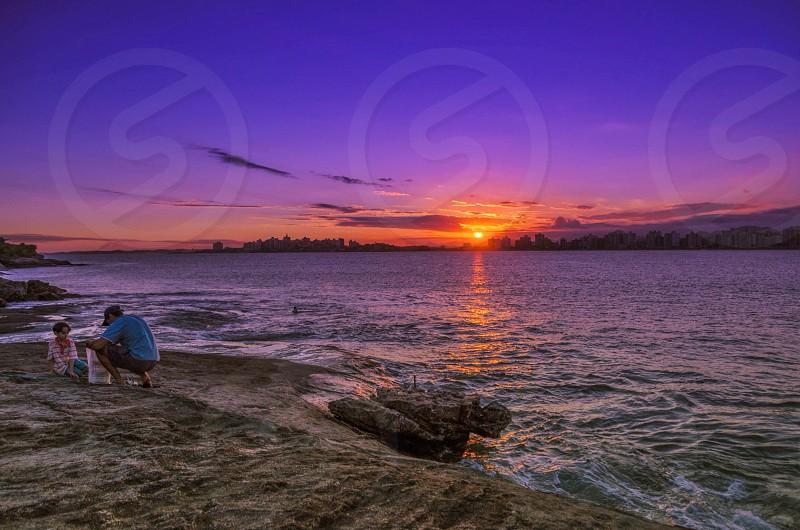 sea sunset nature photography photo