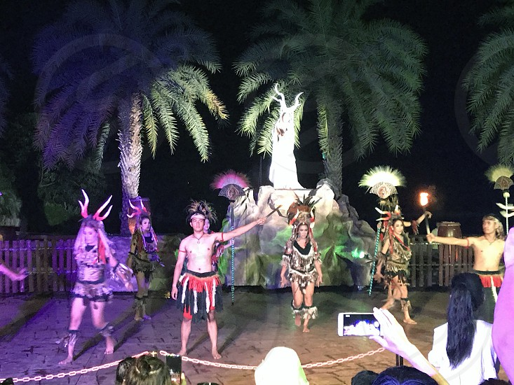 Performance at Chiang Mai Night Safari Thailand photo