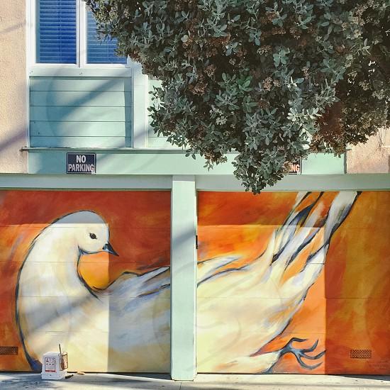 Garage door mural photo