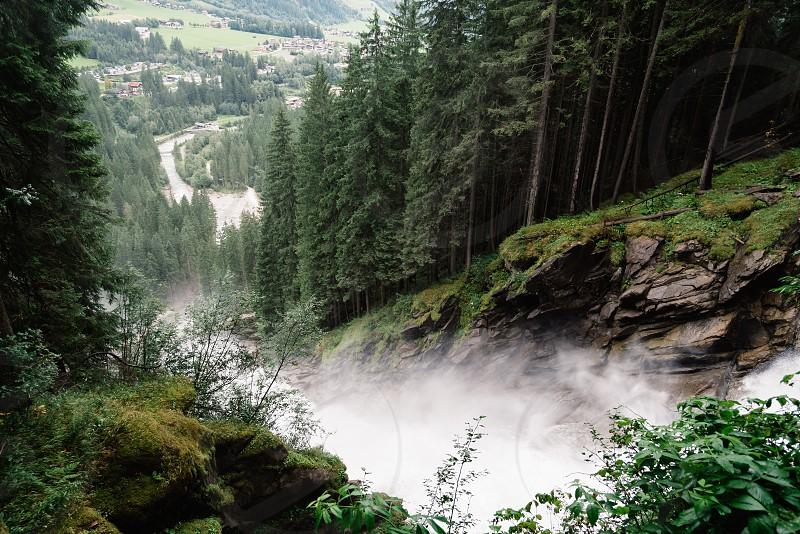 Krimml Waterfalls in High Tauern National Park in Austria photo