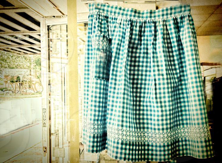 Vintage checkered apron photo
