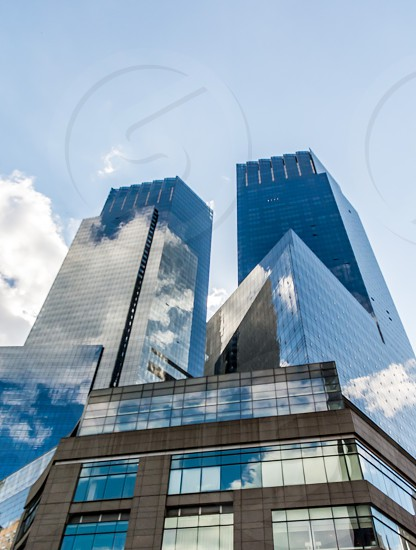 Time warner center and cloud reflection photo