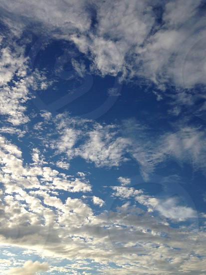 cloudy blue sky  photo