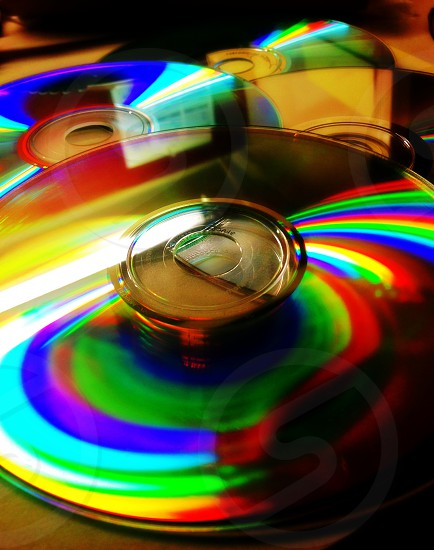 Compact disc CD colors photo