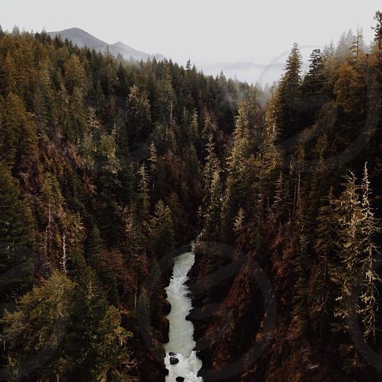 river gorge view photo