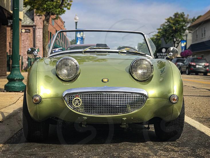 Happy vintage car photo