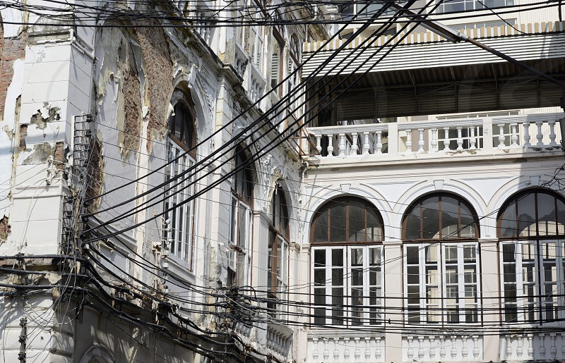 a old Palace House at the Mae Nam Chao Phraya River in the city of Bangkok in Thailand in Southeastasia. photo