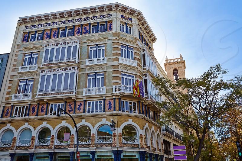 Valencia Casa Isla de Cuba in La Paz street of Spain photo