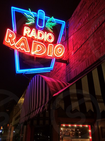 Radio Radio Bar Neon Sign photo