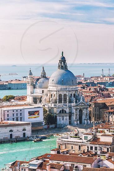 Basilica at Dorsoduro area Venice Italy photo