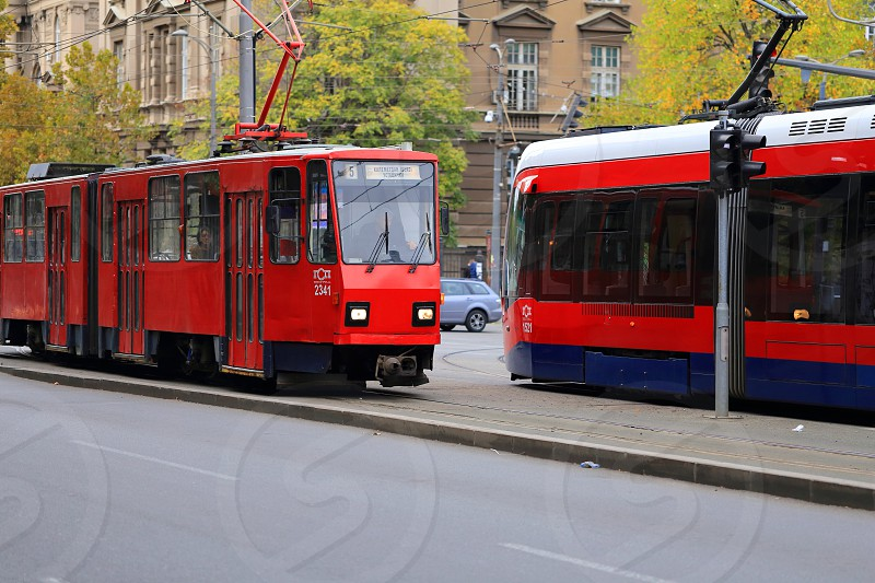 Old and new in Belgrade Serbia photo