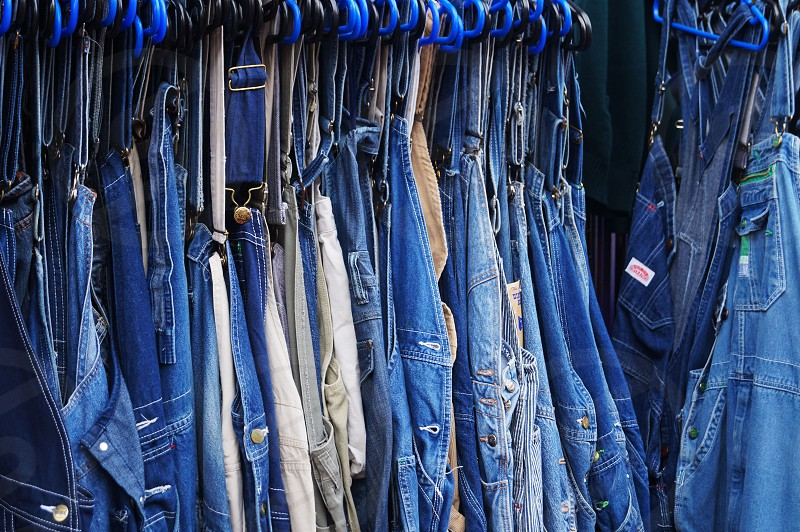 hanging clothes  miscellaneous style  True Blue  photo